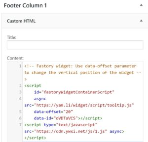 Fastory code into WordPress